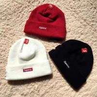 Quality 【wechat cx2801f】supreme beanies men and women knitted caps cheap for retail and for sale