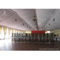 Transparent Glass Wall Aluminum Profile Wedding Event Tent , White Roof Lining Decoration Manufactures