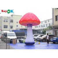 Event Or Festive Inflatable Lighting Decoration / 5m Giant Inflatable Mushroom Manufactures