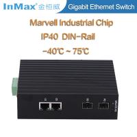 Buy cheap 4 ports gigabit switch, 2 SFP slots and 2 RJ45 ports 10 /100/1000Mbase Ethernet from wholesalers