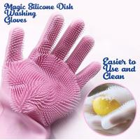 China Amazon Hot Selling Reusable Silicone Magic Washing Gloves Oven Mitts Cleaning, Household, Dish Washing Reusable Silicone on sale