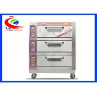 Commercial Baking Equipment / Commercial pie baking machine 3 decks 9 trays electric pizza oven with wheel Manufactures