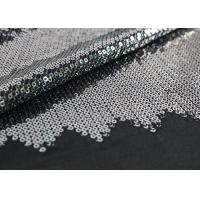 Embroidered Mesh Lace Fabric With Silver Sequin , Bridal Lace Fabric By The Yard Manufactures