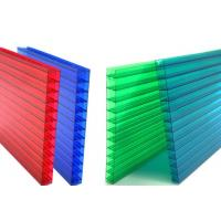 16mm Fourwall Colored Hollow Polycarbonate Sheet Ten Years Guarantee Manufactures