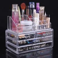 Large Acrylic Makeup Organizer With Drawers Clear Cosmetic Cases Manufactures
