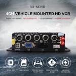 PAL / NTSC 8 Channel Mobile DVR 128GB Storage 3G 4G GPS Tracker Car MDVR Manufactures