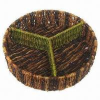 3-lattice Straw Fruit Basket for All Kinds of Candies