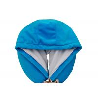 Novelty Hooded Memory Foam Neck Pillow , Airplane Neck Pillow for Flight Manufactures