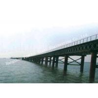 China Multispan Single Lane Prefabricated Bailey Steel Bridge Construction Assembly on sale