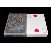 China Texas Hold'em Customized Plastic Poker Playing Cards , Big Index Waterproof Playing Cards on sale