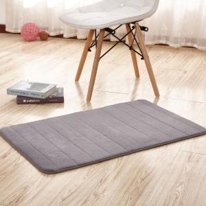 Thick Memory Foam Floor Mats, Bulky Fleece Fabric Grey Fast Drying Bath Mat Manufactures