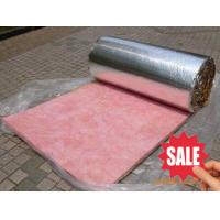 China pink roofing glass wool rolls thermal insulation materials on sale