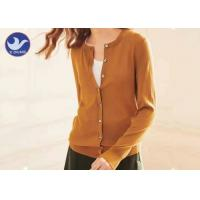 Buy cheap Buttons Up Cardigan Cashmere Sweater Lady Crew Neck Basic Knitwear from wholesalers