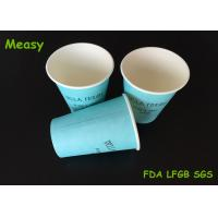 China 12OZ Teal Color Hot Paper Cups With Black Letter Printings , Takeaway Coffee Cup on sale