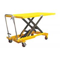Ageing Resistance Heavy Duty Lift Table , Extra Large Plate Scissor Lift Work Table Manufactures
