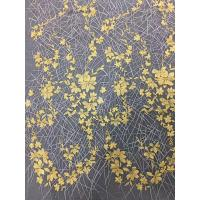 Bridal Embroidered Tulle Fabric / Mesh Lace Fabric With Colorful Flowers 100% Polyester Manufactures