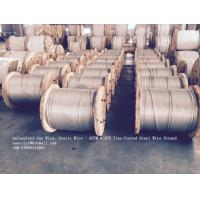 ASTM A 475 Galvanized Guy Wire / Steel Cable Wire With Excellent Anti Rust Performance Manufactures