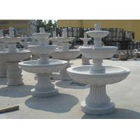 Marble  / Granite Water Fountain Outdoor , Natural Stone Garden Fountains Manufactures