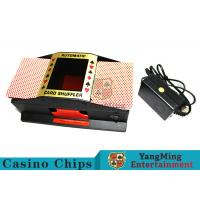 Black Color Durable Mechanical Card Shuffler Humane Design With Metal Materials Manufactures