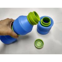 400 ML Outdoor By Bike Folding Silicone Drinking Cup With PP Lid Manufactures