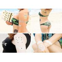Water Transfer Flash Metallic Tattoo Stickers Gold Foiled Body Decoration Manufactures