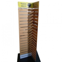 4 sided Plastic Slatwall Branded Display Stands Manufactures