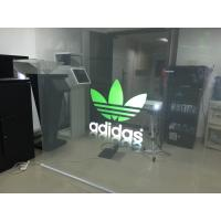 Indoor Clear Holographic Self Adhesive Rear Projection Film For Shop Window Manufactures