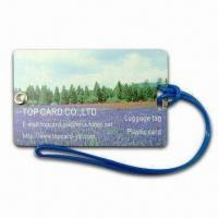 Swivel-type Luggage Tag with Metal Eyelet, Made of PVC Manufactures