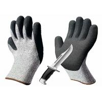 Black / Gray Sandy Nitrile Coated Hand Gloves Abrasion Resistant HPPE Liner Manufactures