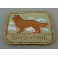 Eco Friendly Custom Embroidery Patches with Polyester yarn / Cotton Yarn metallic thread Manufactures