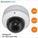 2 megapixel vandalproof poe ip external dome camera with p2p Manufactures