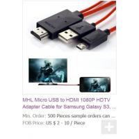 MHL Micro USB to HDMI 1080P HDTV Adapter Cable for Samsung Galaxy S3, Galaxy S4, S5 i9600 Manufactures