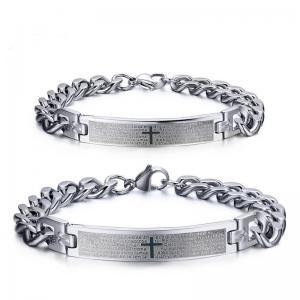 Stainless Steel Couple Bracelets Jewelry,  Charm Faith Love Hope Bracelet, Scripture engraving bracelet Manufactures
