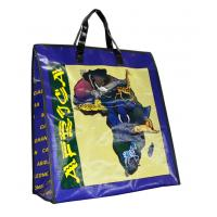 Africa Map PP Woven Shopping Bags Black Edge 4c Printing Recycle Manufactures