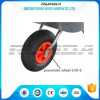 Light Duty Small Size Pneumatic Swivel Wheels 25% Rubber Contain For Wheelbarrow Manufactures