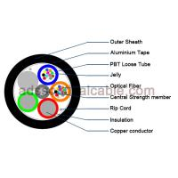 China Outdoor 12 Core Armoured Fiber Optic Cable GDTA Optical Power Composite Cable on sale