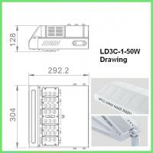 High Lumen COB SMD 50w Energy Efficient Street Lighting Die Cast Aluminum Manufactures