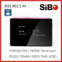 SIBO In Wall Flush Tablet with wifi POE App remote control For Home Automation Manufactures