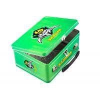 Sports 3D Embossed Rectangular Lunch Tin Box Metal Wire Hinge OEM Accepted Manufactures