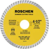General Purpose 9 inch Waved Turbo Diamond Cutting Blades , Yellow / Green Manufactures