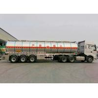 40000L Insulated Tank Semi Trailer , Aluminum Tanker Trailer With 3 BPW Axles Manufactures