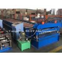 Cold Steel Automatic Roll Forming Machine For Corrugated Roofing Panel PLC Control Manufactures