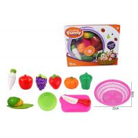 12 Pcs Pretend Role Play Children's Play Toys for Kitchen Fruit Vegetable Cutting Manufactures