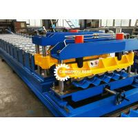China Building Material Glazed Wave Steel Roof Tile Forming Machine Plc Control on sale