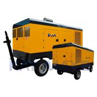 Yellow Color Diesel Screw Air Compressor 2600*1800*1820MM Size For Rock Drills Manufactures