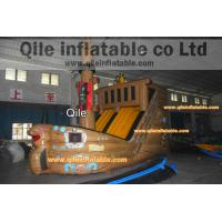 Quality large inflatable Pirate ship slide inflatable Disneyland castle inflatable for sale