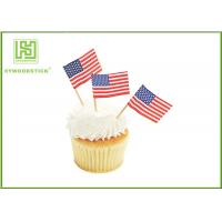 Colorful Food Grade Cake Decoration Toppers Flag Food Picks For Holidays Manufactures