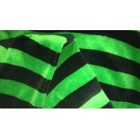 China Reactive Dyed Double Knit Fabric For Suit Or Shirt / Green And Black Striped Fabric on sale
