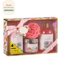 Quality Sensitive Skin Relaxation Gift Set Bulgaria Rose Garden Fragrance Silky Texture for sale