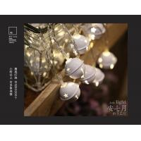 China Jingle Bells LED String Lights, 7.2 ft 20 Light Battery Operated Fairy Christmas Tree Lighting, Indoors Decorations on sale